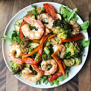 low fodmap shrimp and vegetable