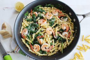Gemelli Pasta with Shrimp and a Lemon Butter Sauce