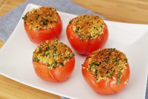 roasted tomatoes with parm