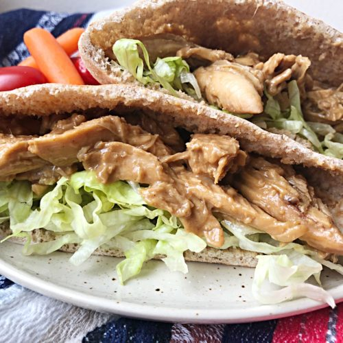 Indonesian Chicken Pitas