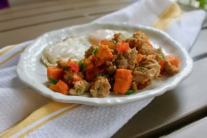 Low FODMAP Sweet Potato Hash