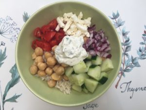 Vegetarian Greek Bowl