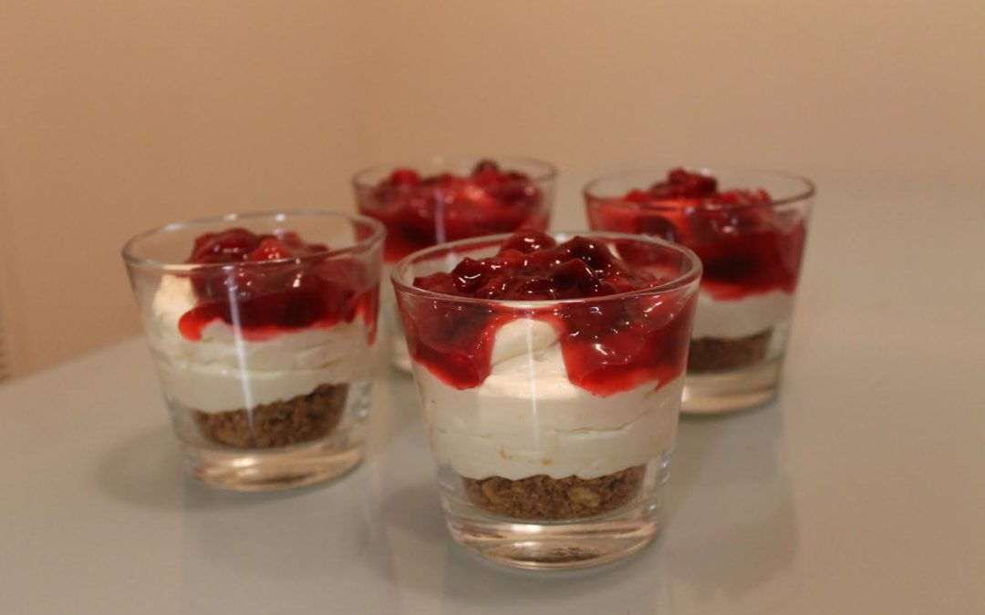 Cranberry Orange Cheesecake Cups