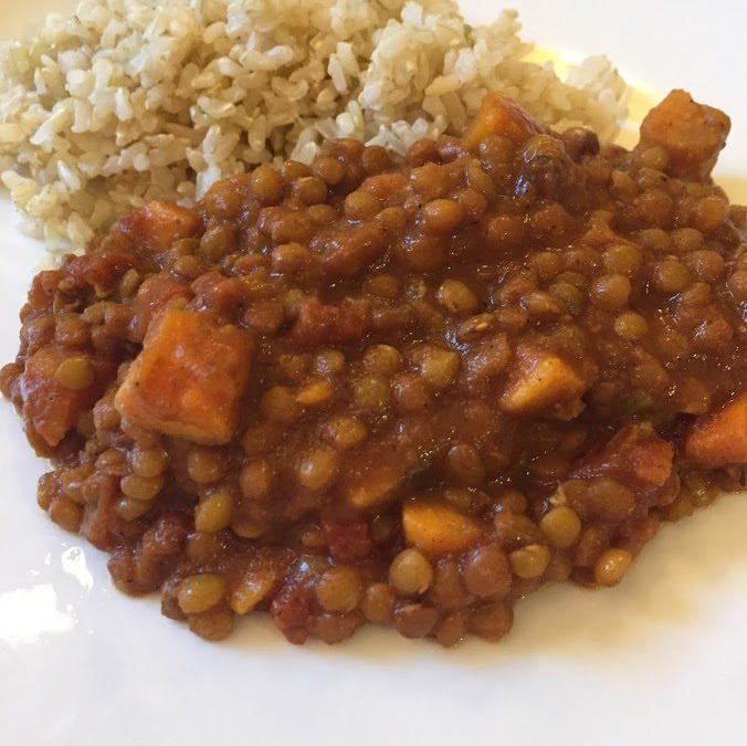 Slow Cooker Coconut Curry Lentils