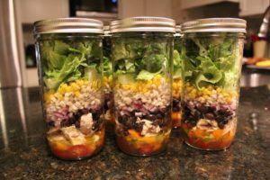 Margarita Chicken Mason Jar Salad