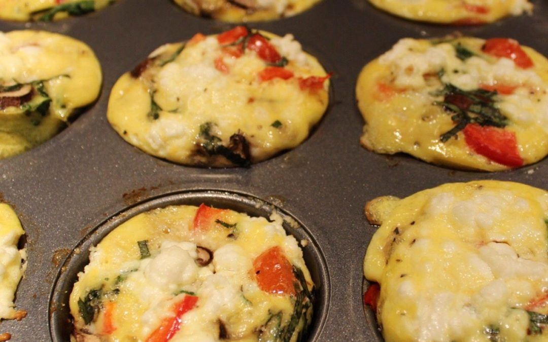 Veggie Egg Muffins with Goat Cheese