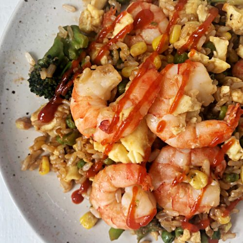 shrimp fried rice bowl