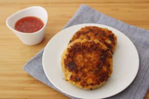sweet potato and salmon cakes