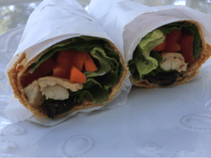 low fodmap chicken wrap