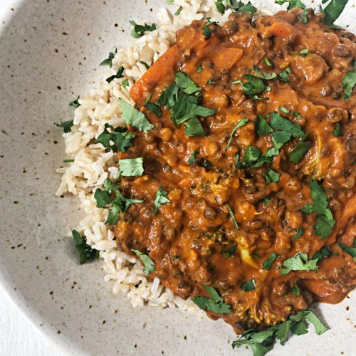 10 minute recipe Lentil curry