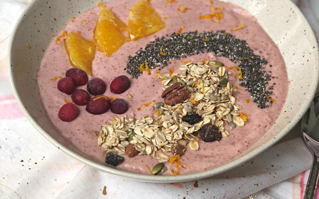 Cranberry Orange Smoothie Bowl