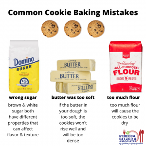 common cookie baking mistakes graphic by Rebecca Bitzer
