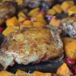 Chicken Thighs with Cranberries and Butternut Squash