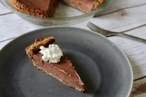 Chocolate Greek Yogurt Pie with Hazelnut Crust