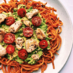 Avocado Mash with Carrot Noodles