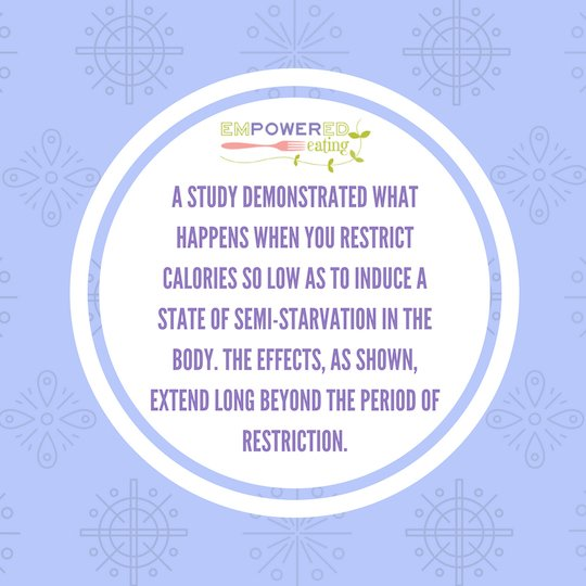 The Effects of Semi-Starvation in Eating Disordered Clients and Extreme Dieters mimic study from Ancel Keys