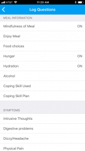log your food with Recovery Record