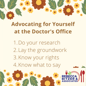 advocating for yourself at the doctor's office